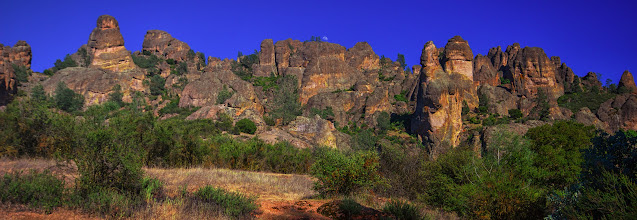 Photo: Nearing the end... Moonrise over the rocky hillside along Juniper Canyon Trail.
