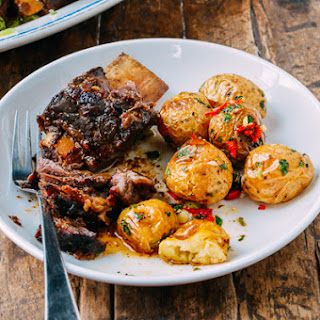 Asian Braised Short Ribs with Chili Lime Potatoes