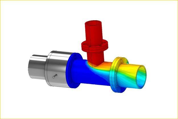 ANSYS - Тепловой расчет тройника трубопровода