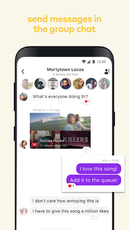 Airtime: Group Facetime + YouTube screenshots