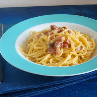 Carbonara (pancetta and egg) Pasta.