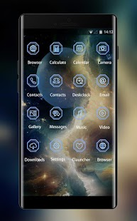 Galaxy Live wallpaper & Moon Theme - náhled