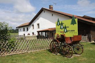 Photo: Notre Maison avec le logo / Unser Haus mit dem Firmenlogo