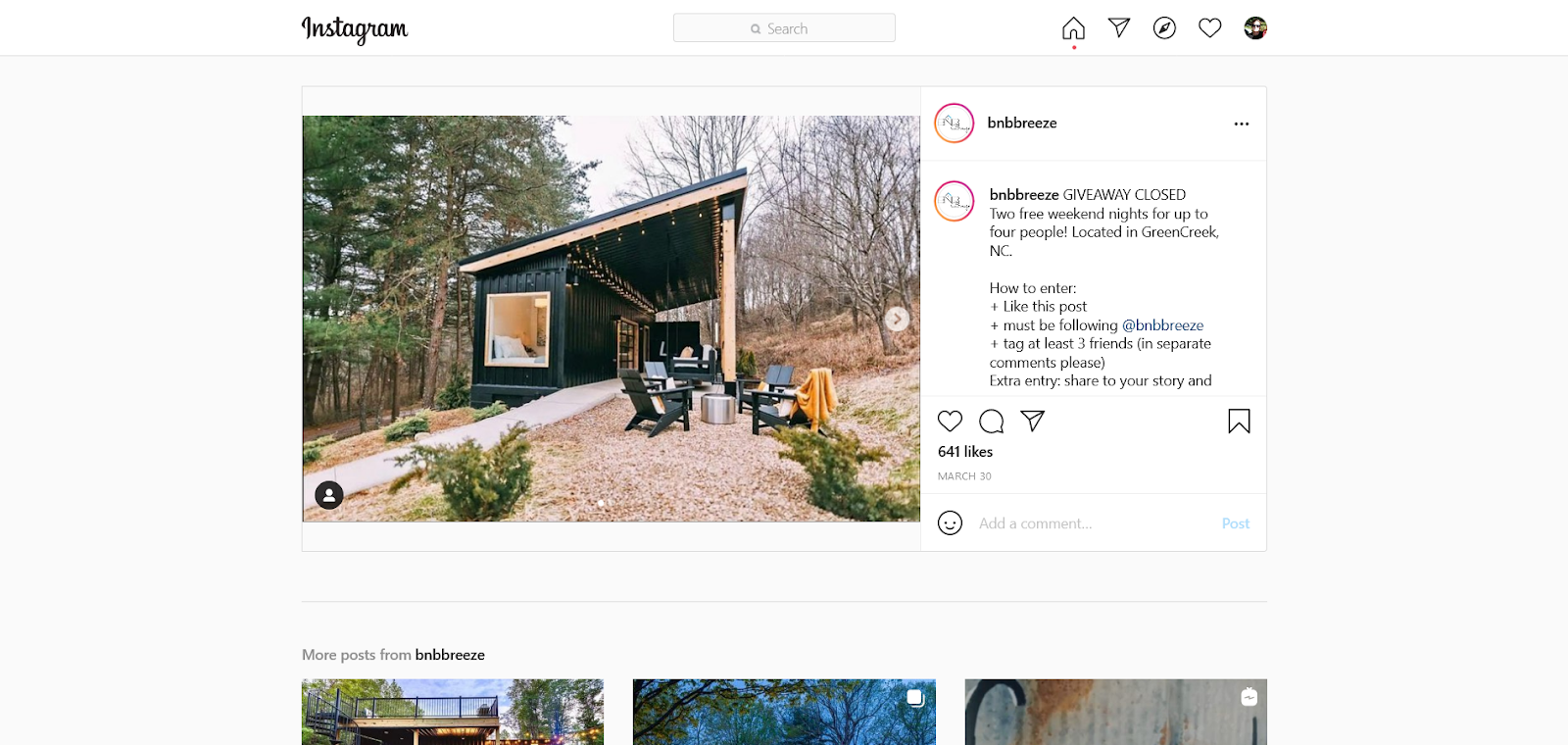 bnbbreeze instagram giveaway