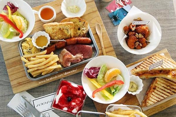 1004 Brunch 台南 中西區 韓式早午餐,春川辣炒雞丹麥帕里尼,還有部隊鍋口味帕里尼。木盆沙拉|炸物|韓式早午餐@ 愛比妞の美食地圖