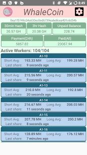 OrchardCoins Monitor - náhled