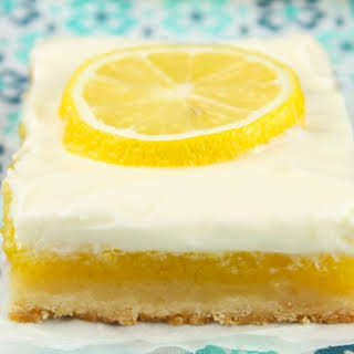 Lemon Bars with Cream Cheese Icing.