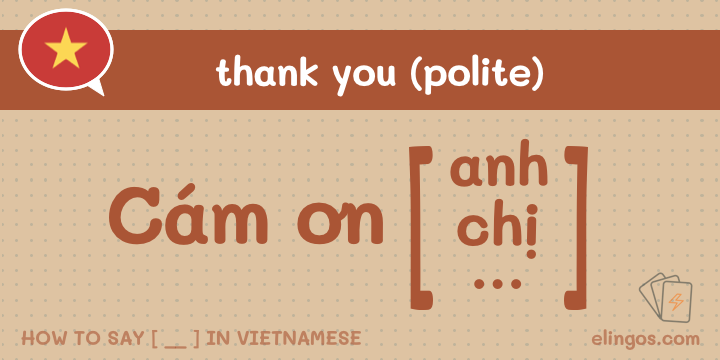 "Polite ""Thank you"" in Vietnamese"