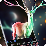 Mysterious Christmas Elk Keyboard Icon
