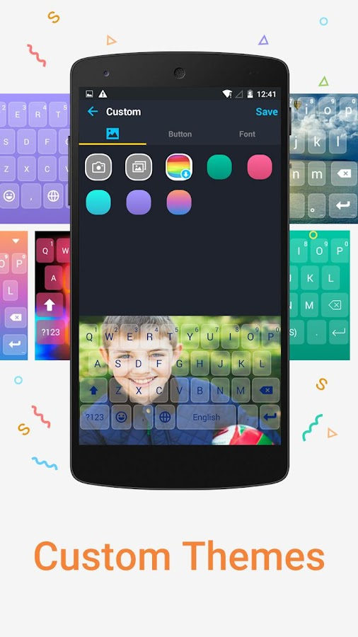 Screenshots of iKeyboard - emoji, emoticons for iPhone
