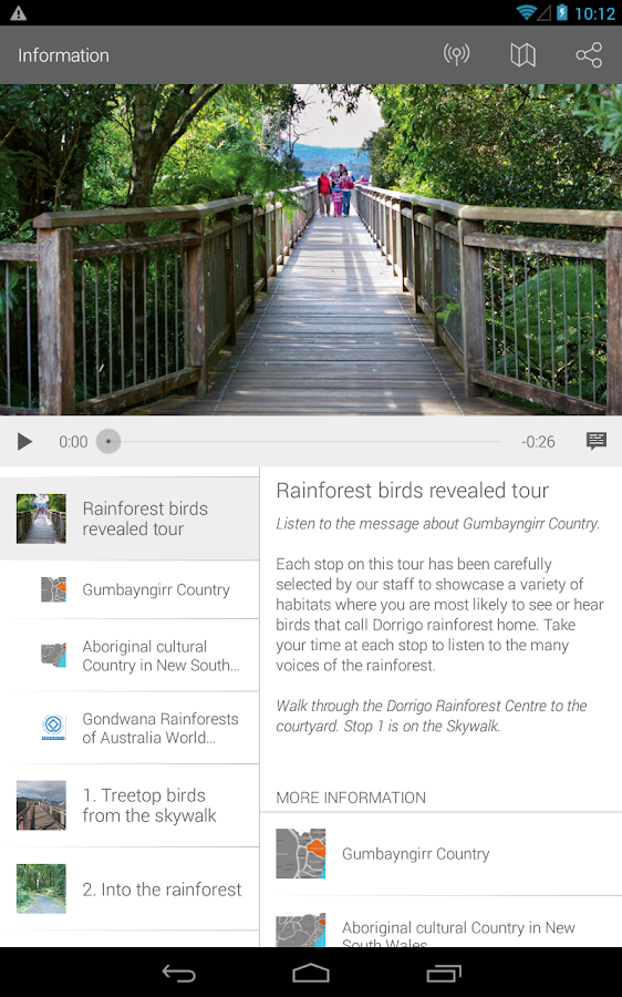 NPWS Self guided tours- screenshot