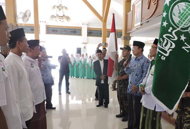 Bupati Ngawi Sambut Kedatangan Tim Kirab Resolusi Jihad Rute Banyuwangi-Jakarta