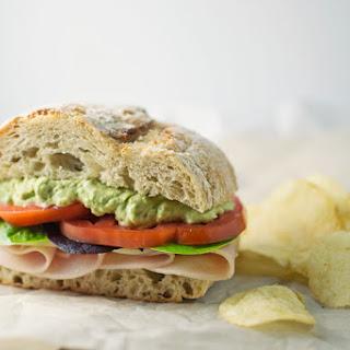 Roast Turkey with Garlic Avocado Mayo Sandwich