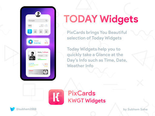 PixCards KWGT - Modern Card Style Widgets screenshot 5