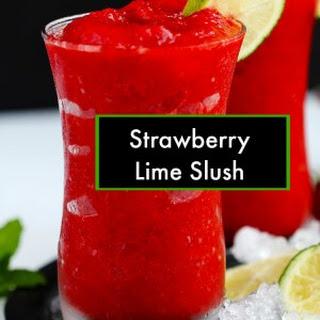 Strawberry Lime Slushies