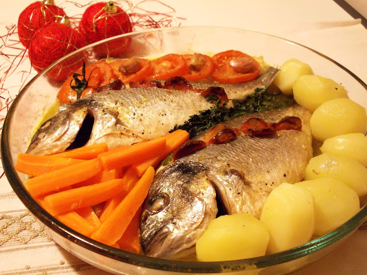 Roasted Bream with Vegetables Recipe