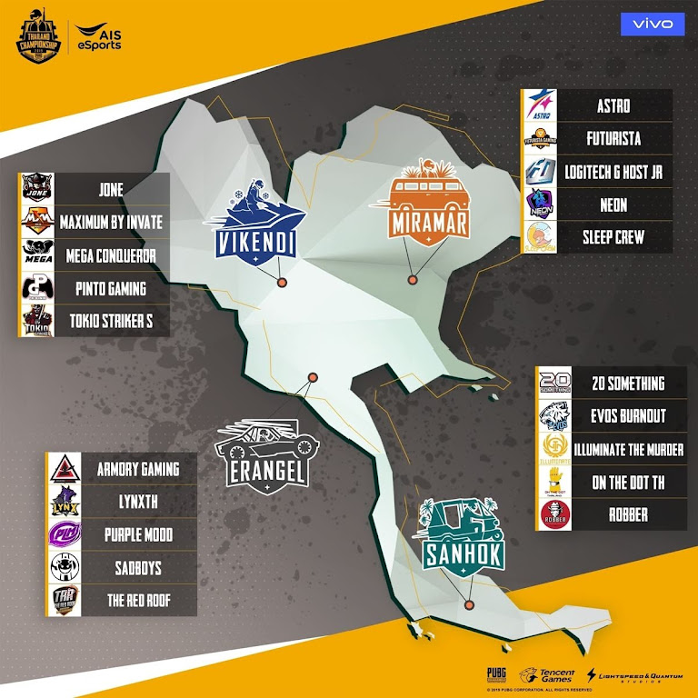 PUBG Mobile Thailand Championship 2019 4 Team