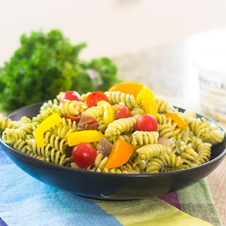 15 Minute Healthy Pesto Pasta