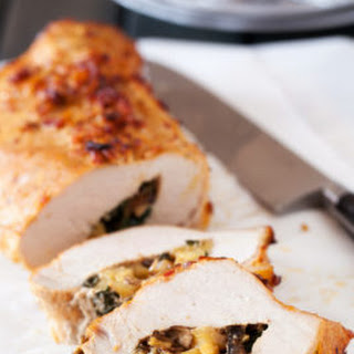 Pork Loin with Apple Mushroom Stuffing