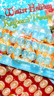 Winter Keyboard Themes ❄️ Ice Keypad Changer App - náhled