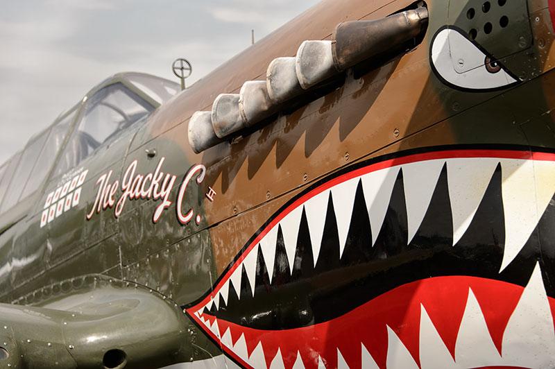 "Photo: P-40 Warhawk ""The Jackie C"""