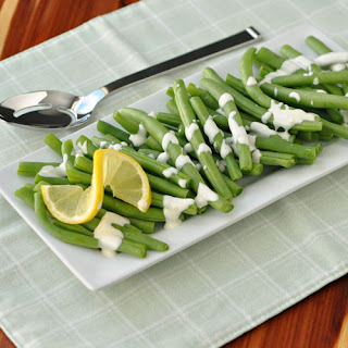 Green Beans with Lemon Aioli.