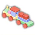 積み木機関車
