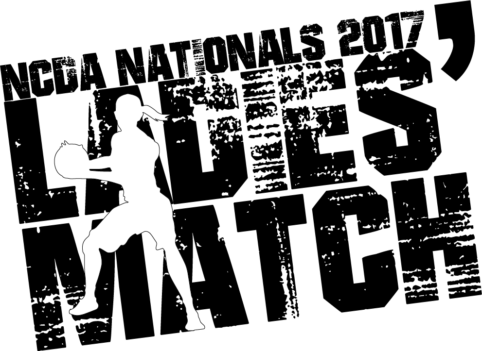 2017 Ladies' Match print. Shirts will be unisex-sized blue tank tops with a white print, but no exact promises.