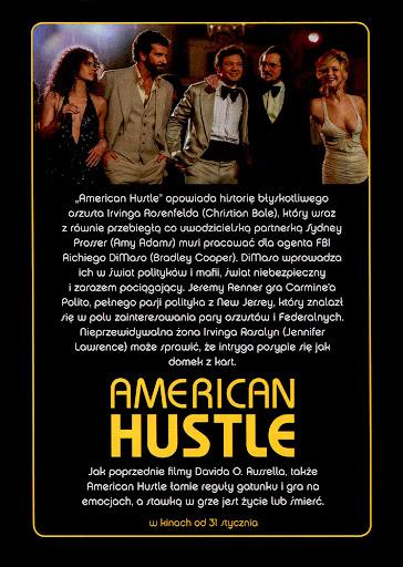 Tył ulotki filmu 'American Hustle'