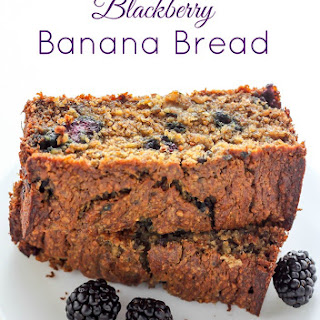Healthy Blackberry Banana Bread.