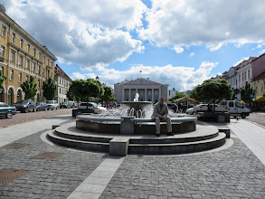 Photo: A fountain at Town Hall square
