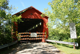Photo: The Stonelick Covered Bridge is now closed to traffic