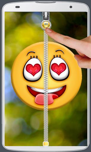 Smiley Love Zipper Lock