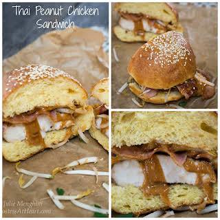 Thai Peanut Chicken Sandwich.