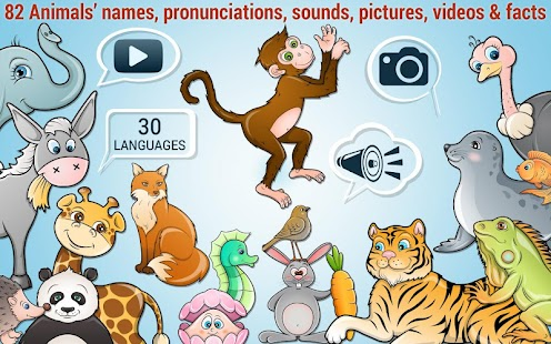 Kids Puzzle - learn 82 animals - náhled