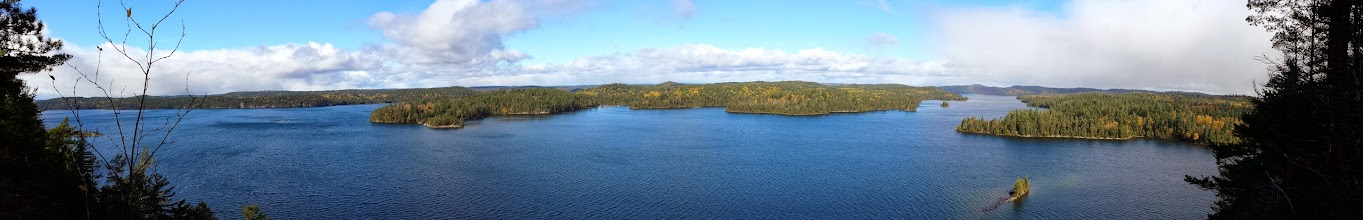 Photo: View from Devil's mountain, Temagami lake (South-West Arm?) Ontario, Canada