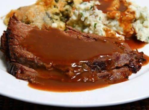 Roast Beef With Coffee Gravy Recipe