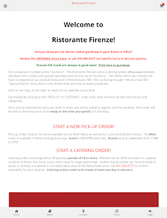 Ristorante Firenze Ordering- screenshot thumbnail