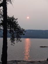 "Photo: hazy forest fire smoke over the ""Elephant"""