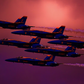 Angels in the Sky by Greg Harcharik - Transportation Airplanes ( blue angels pensacola florida airshoe,  )