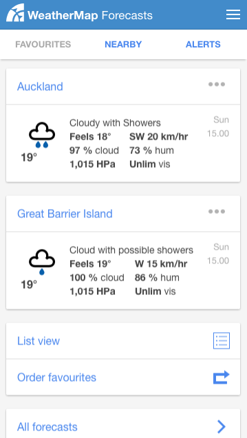 WeatherMap- screenshot