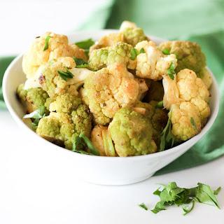 Lime Garlic Green Cauliflower.