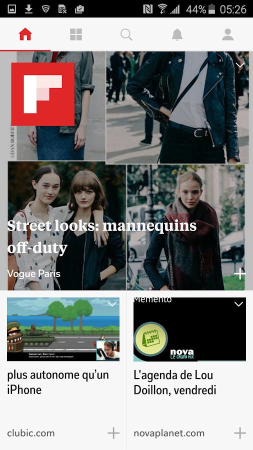 Flipboard– Capture d'écran