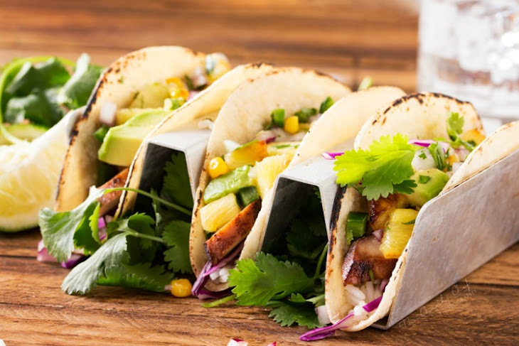 Tequila Lime Chicken Tacos with Grilled Pineapple Salsa Recipe ...