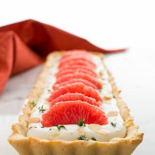 Grapefruit & Thyme Mascarpone Tart (Gluten-free)