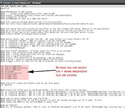 Windows Media Encoder 9 : Batch file encoding videos from