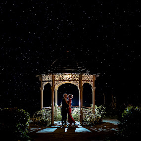 Under the stars by Paul Duane - Wedding Bride & Groom ( night photography, wedding, bride, landscape, groom )