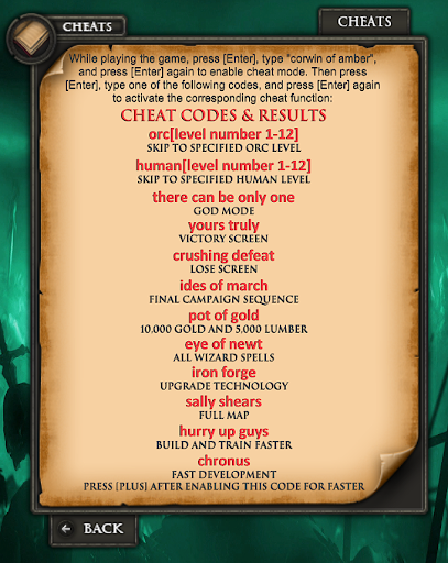 <b>Warcraft 2 Cheats</b>   Crafting