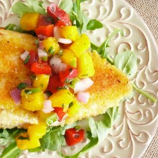 Cornmeal Crusted Catfish with Mango Salsa
