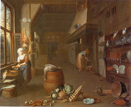 Photo: late 17th c. Kitchen of a large house.